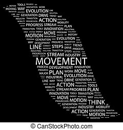 MOVEMENT Word cloud concept illustration Wordcloud collage...