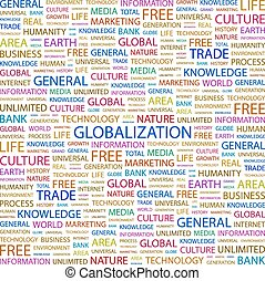 GLOBALIZATION. Background concept wordcloud illustration....