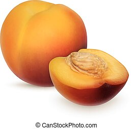 Nectarine isolated on white. Summer fruit. High quality...
