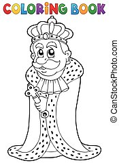 Coloring book king theme 1 - eps10 vector illustration