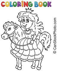 Coloring book princess theme 2 - eps10 vector illustration.