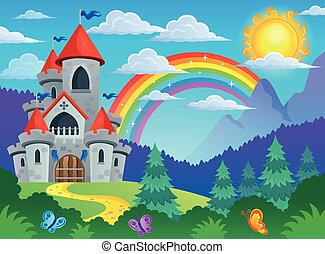 Fairy tale castle theme image 4 - eps10 vector illustration