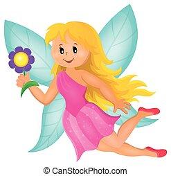Happy fairy theme image 1
