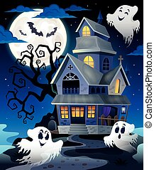 Image with haunted house thematics 5 - eps10 vector...