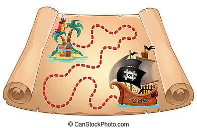 Pirate scroll theme image 1 - eps10 vector illustration.