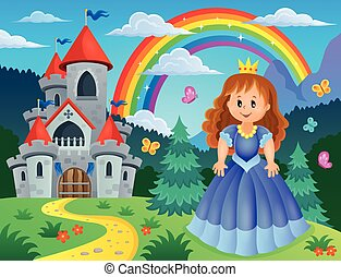 Princess theme image 3 - eps10 vector illustration.