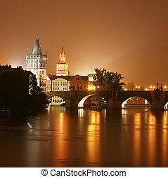 Prague at night. Czech Republic