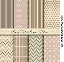 Set of Pastel Samless Pattern