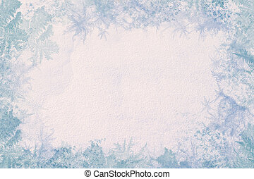 Winter frame Consists of the texture of snow in the center...