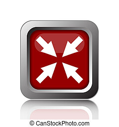 Exit full screen icon Internet button on white background