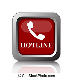 Hotline icon. Internet button on white background