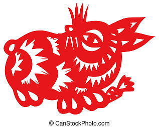 Chinese zodiac of hare - Chinese traditional...