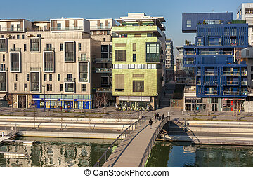 The Confluence District in Lyon, France - FRANCE, LYON -...