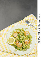 Shrimp Scampi - Shrimp scampi with linguine lemon and...