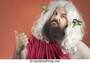 God Points Blame - Zeus God or jupiter says to get out of...