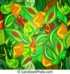 green leaves seamless pattern - a seamless pattern...