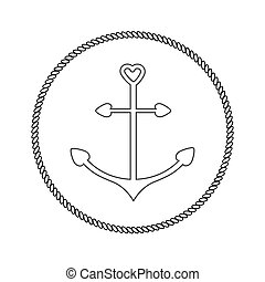 Clipart Vector of Anchor Celtic - Anchor illustrations inspired ...