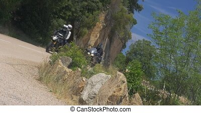 Bikers and Campers on Corsica - 4K, Bikers and Campers on...