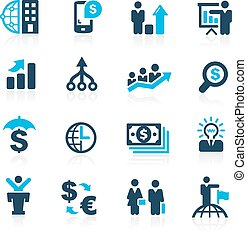 Finance and Business - Azure - Vector icons for your web or...