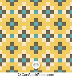 Seamless geometric background. Mosaic. Abstract vector...