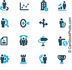 Company Strategies - Azure - Vector icons for your web or...