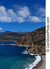 Corsica west coast calanches of Scandola near Porto