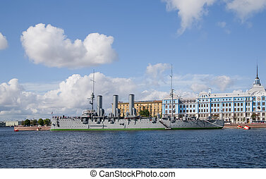 Cruiser Aurora from St.Petersburg - Aurora cruiser museum,...