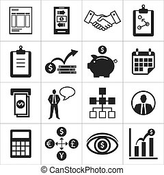 set of icons for business, finance, m-banking
