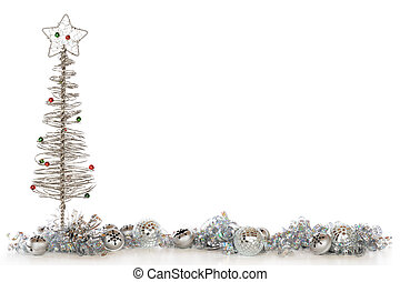 Silvery Christmas Border - A border composed of a wire...