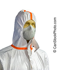 Mannequin in protective clothing - Male mannequin in...