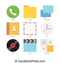 Vector Minimal Flat Icons Set 1 - Vector Minimal Flat Icons...