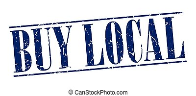 buy local blue grunge vintage stamp isolated on white...
