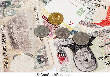 Argentina Currency - Background currency. money and coins