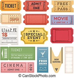 Grunge Tickets and Coupons Collection