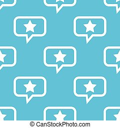 Star message pattern - Image of star in chat bubble,...