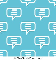 Dotted list message pattern - Image of dotted list in chat...