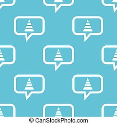 Traffic cone message pattern - Image of traffic cone in chat...