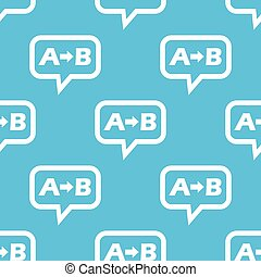 A to B message pattern - Letters A, B and arrow in chat...