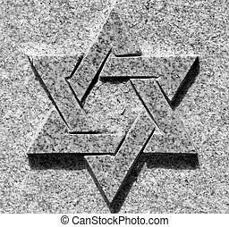 Star of David - Black and white picture of star of David on...