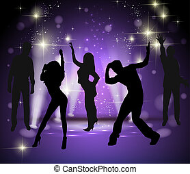 background with dancing people