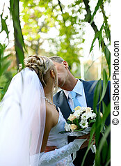 wedding ceremony - A beautiful young bride at wedding...