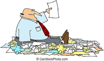 New Year Resolutions - This illustration depicts a man...