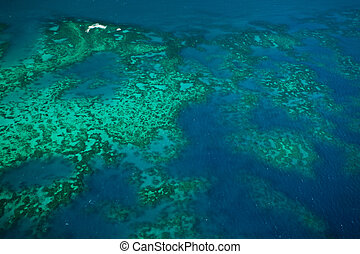 Topographical Aerial view of Arlington Reef at Great Barrier...