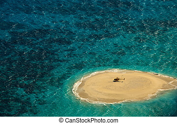 Upolu Cay Great Barrier Reef Helicopter landing pad -...