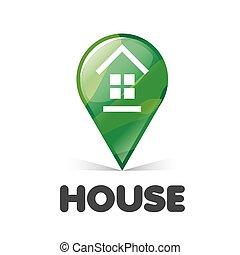 vector logo green pointer Home