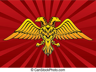Two headed eagle vector