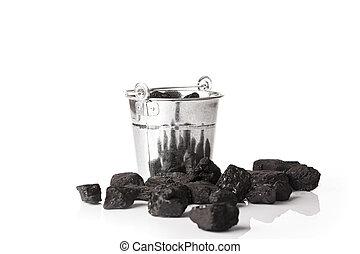bucket full of coal