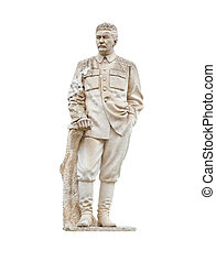 Stalin monument isolated on white background - Stalin...