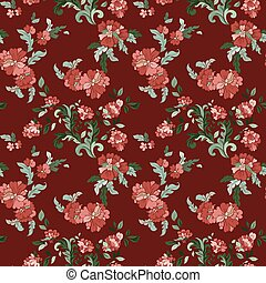 Beautiful floral seamless pattern - Beautiful floral...