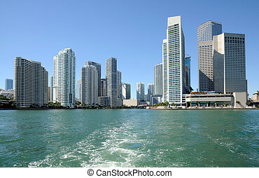 Downtown Miami Skyline from the Biscayne Bay, Florida